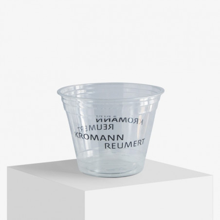 250 ml. plastic cups with 1 colour print