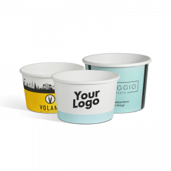 Ice cream cups with logo -...