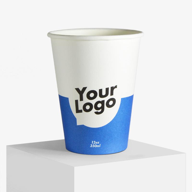 8oz Custom Logo Printed Single Wall Paper Coffee Cup Sleeve