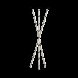 Flexo printed paper straws