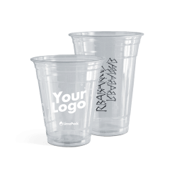 Plastic cups with logo – 1 colour print