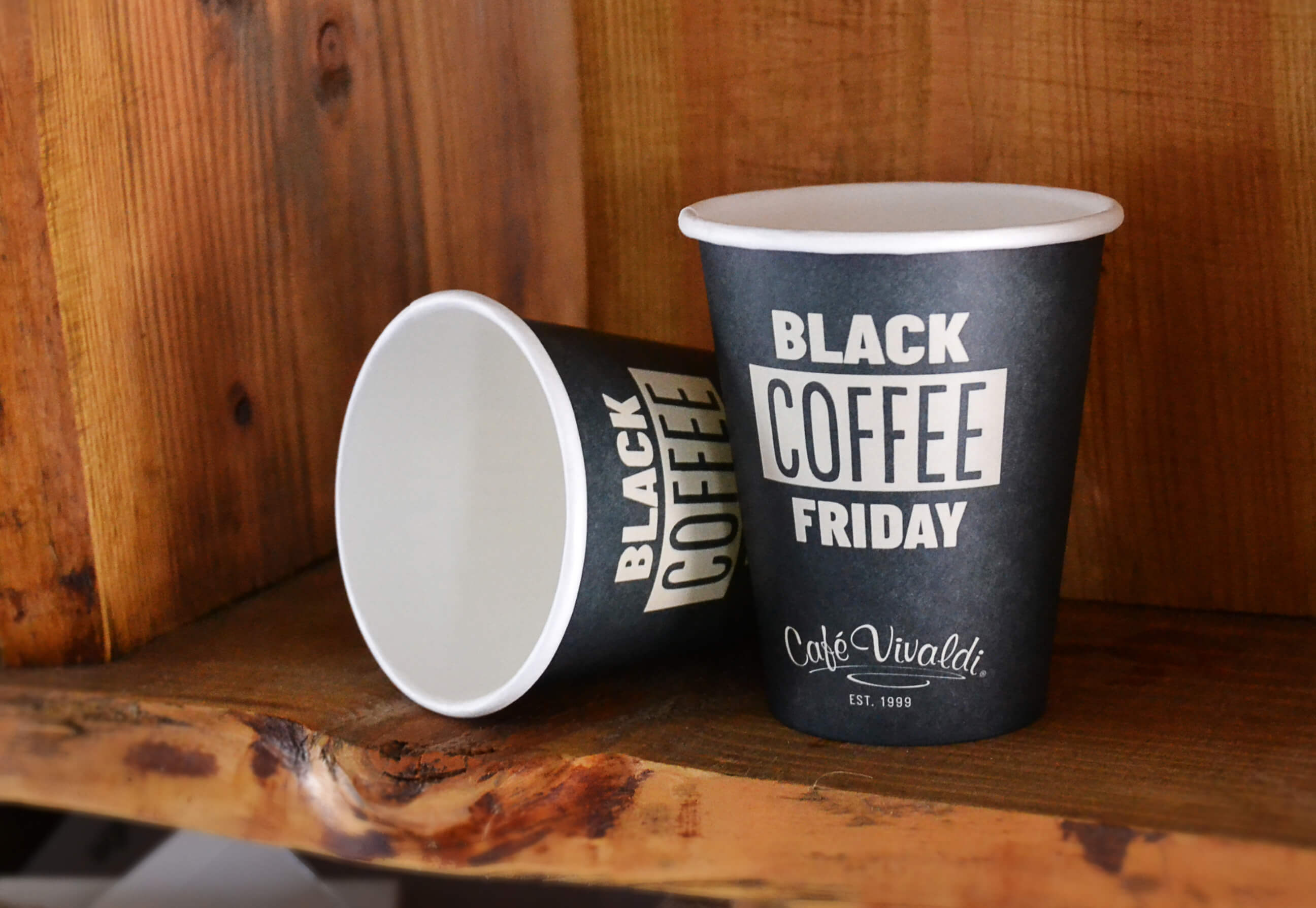 black friday paper cup with print